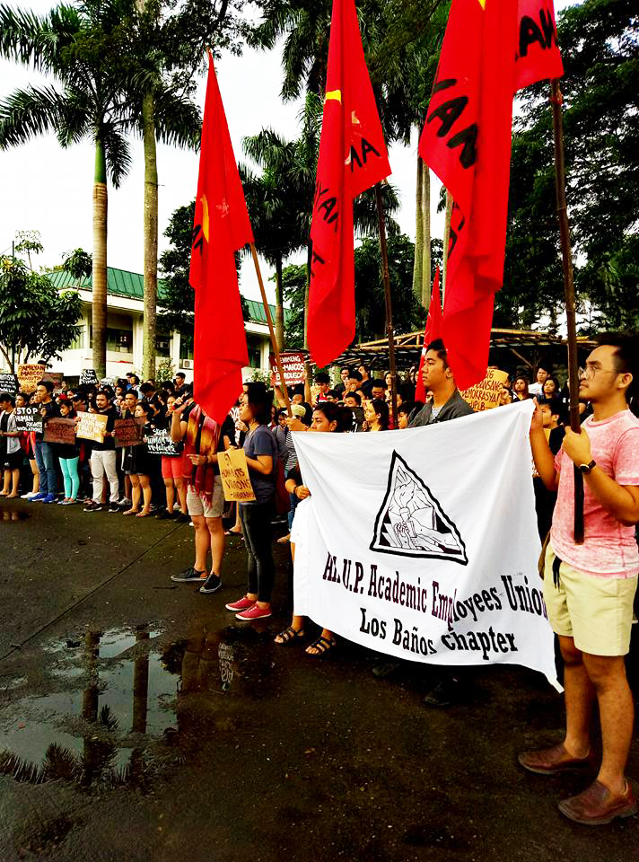 Union members participate in a broad range of activities such as forums, conventions, and protest actions. (Photos courtesy of the AUPAEU-UPLB Chapter)