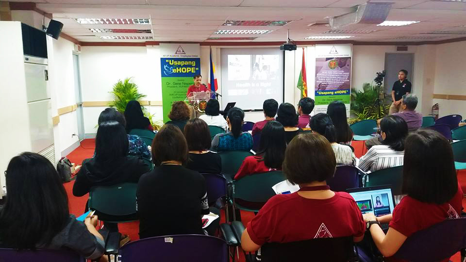Usapang eHOPE forum conducted by the AUPAEU-UPLB Chapter. (Photo courtesy of the AUPAEU-UPLB Chapter)