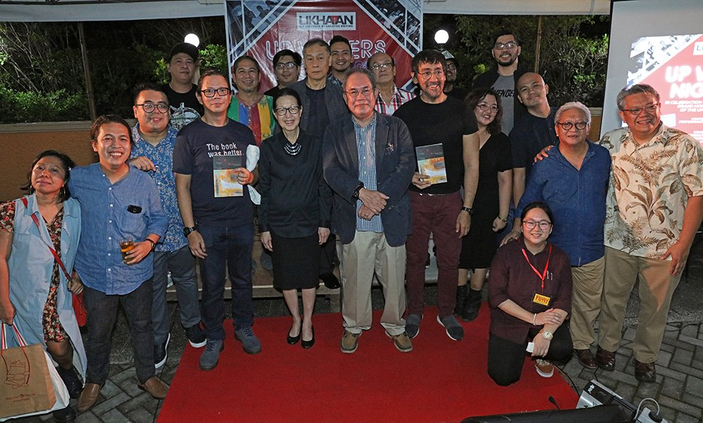 The editors, authors, and production staff of Likhaan 40@40 (Photo by Misael Bacani, UP MPRO)