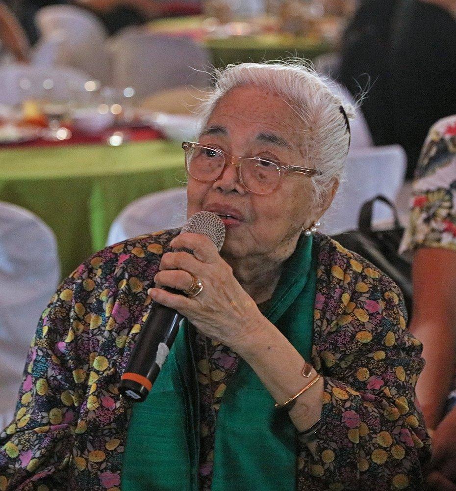National Artist for Literature Amelia Lapeña-Bonifacio (Photo by Misael Bacani, UP MPRO)