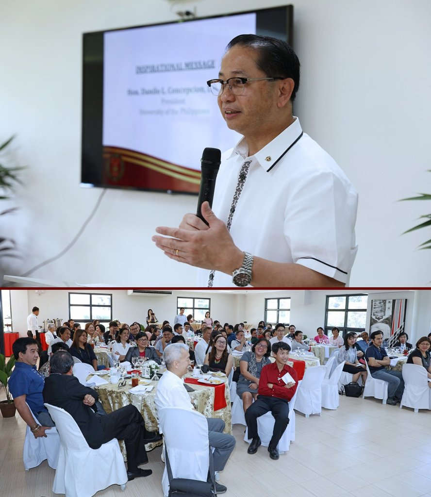 UP President Danilo L. Concepcion pledges the administration's continued and increased support for the IDI in his message. (Photos by Misael Bacani, UP MPRO)