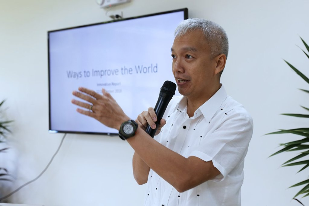 Technology Transfer and Business Development Office Director Luis G. Sison says that out of the 79 innovations thus far, 30 are undergoing market validation and 24 have active licenses. (Photo by Misael Bacani, UP MPRO)