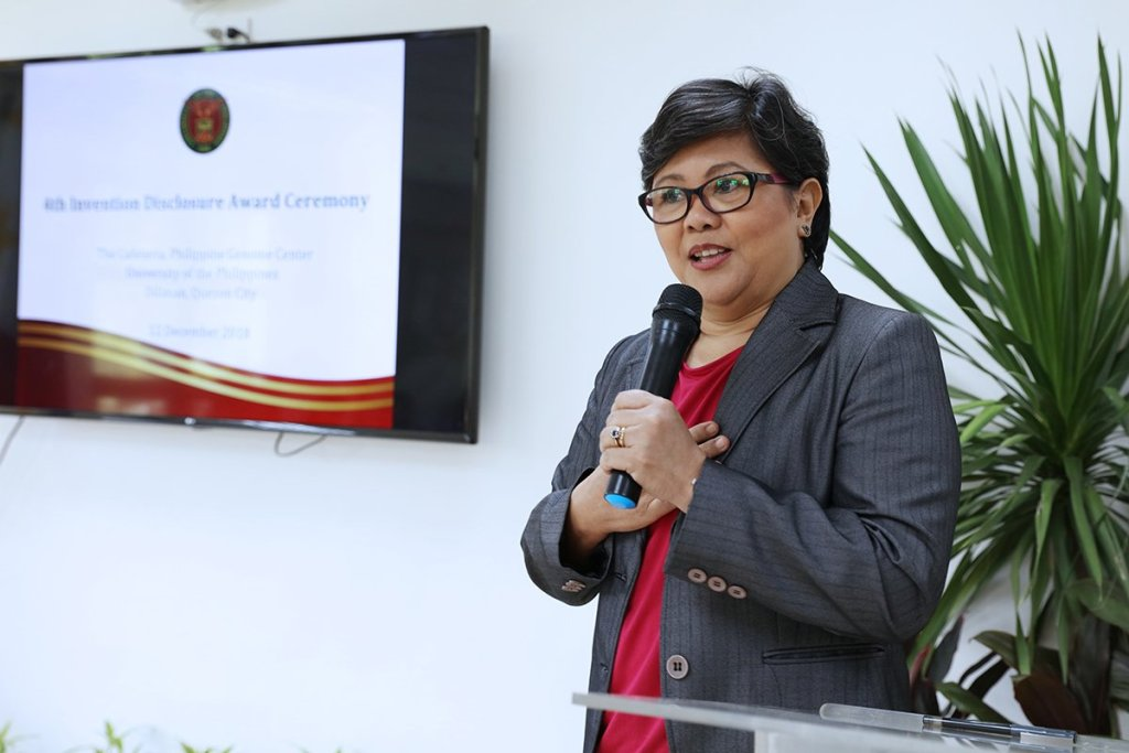 UP Mindanao Chancellor Sylvia B. Concepcion promises more inventions from their constituent university. (Photo by Misael Bacani, UP MPRO)