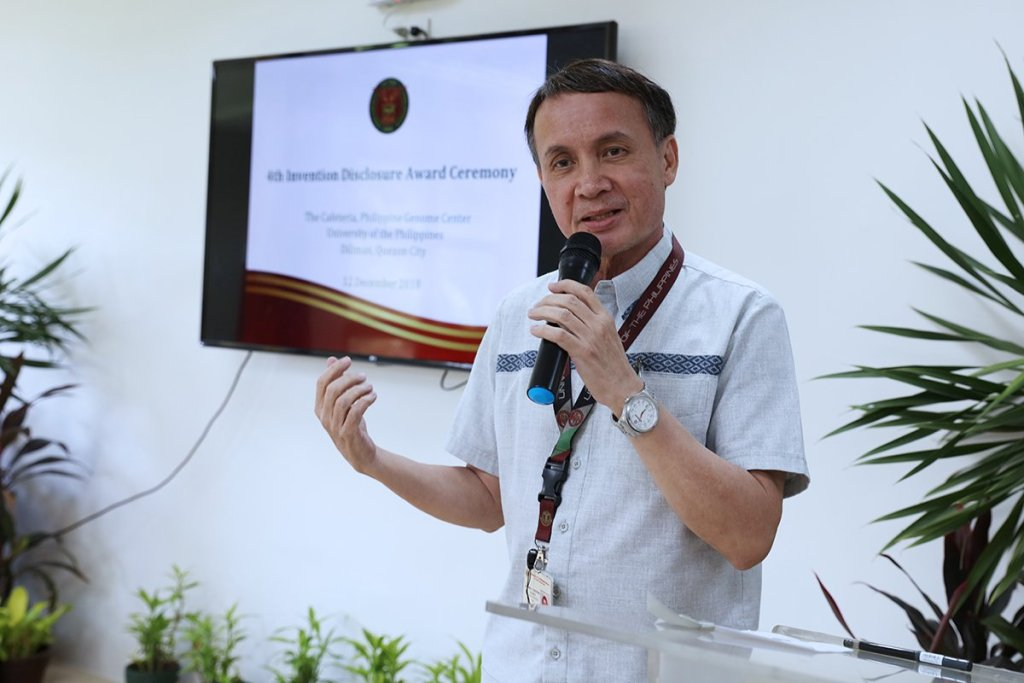 UP Manila Vice Chancellor for Research Armando C. Crisostomo describes the delicate nature of health research. (Photo by Misael Bacani, UP MPRO)
