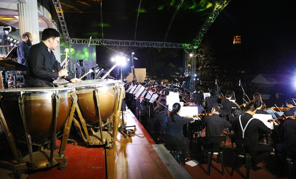 The UP Symphony Orchestra in action. (Photo by Misael Bacani, UP MPRO)