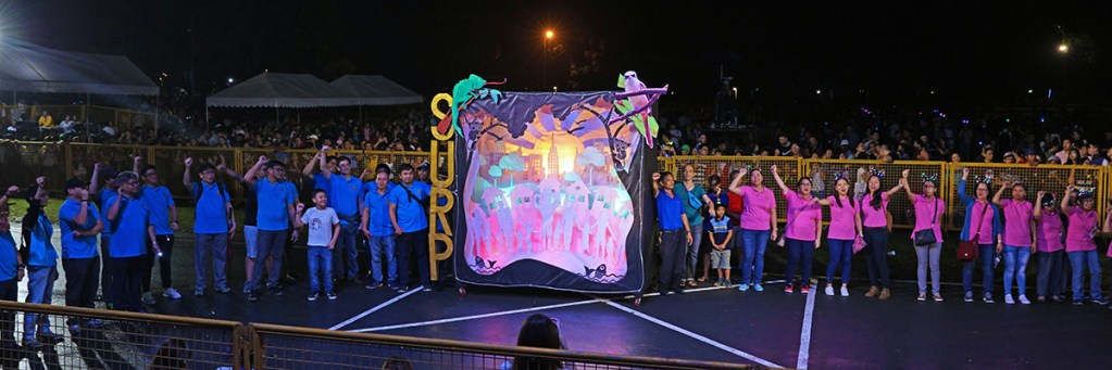 The winning lantern of the School of Urban and Regional Planning, depicting environmentalism in the urban setting. (Photo by Misael Bacani, UP MPRO)