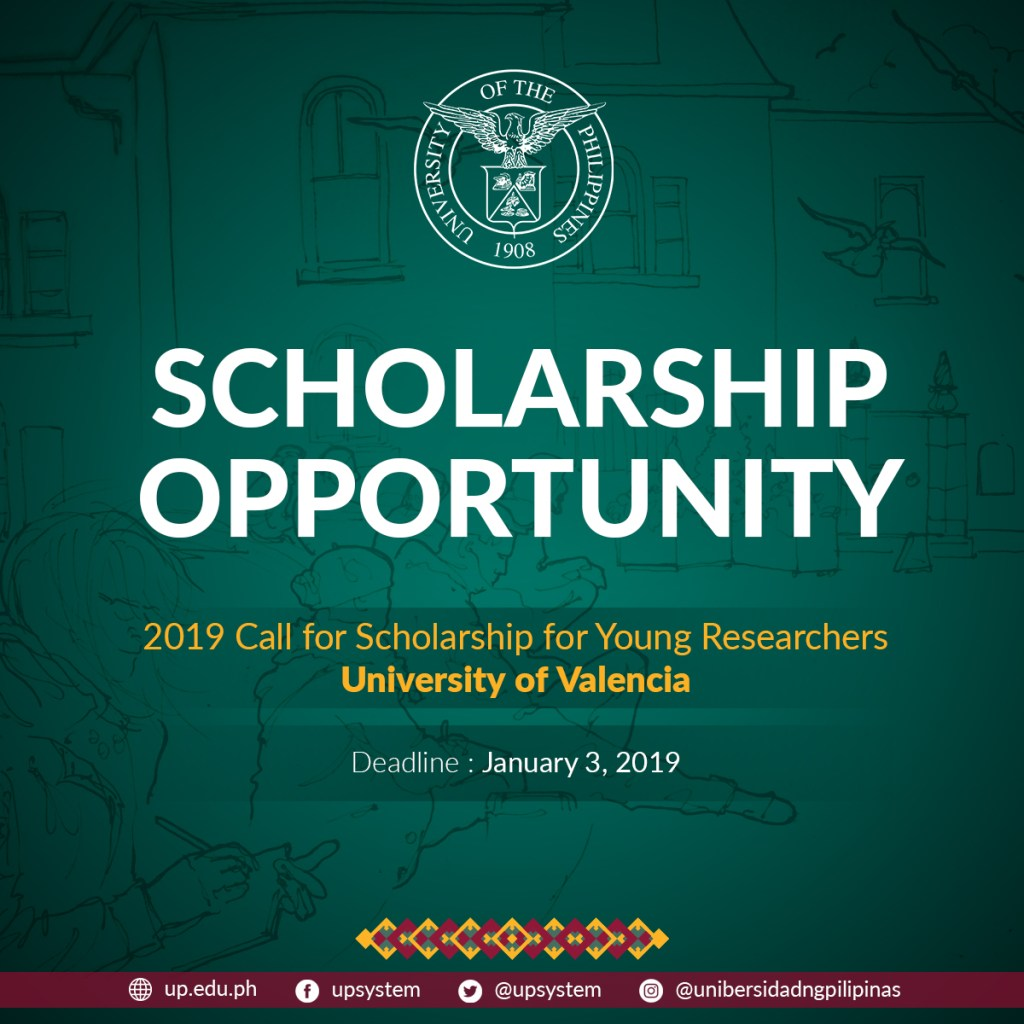 2019 University of Valencia Research Scholarships