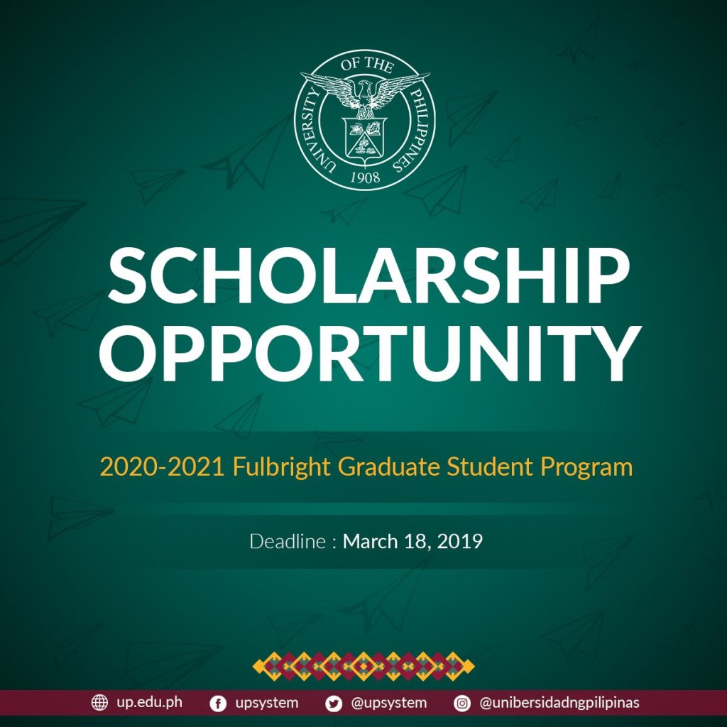 Call for applications: Philippine Fulbright Graduate Student Program