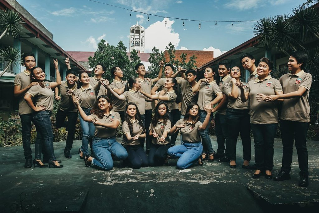 The UP Concert Chorus, with conductor/musical director Prof. Jai Sabas-Aracama (2nd from right), posing at the UP College of Music. (Photo from the UPCC Facebook page)