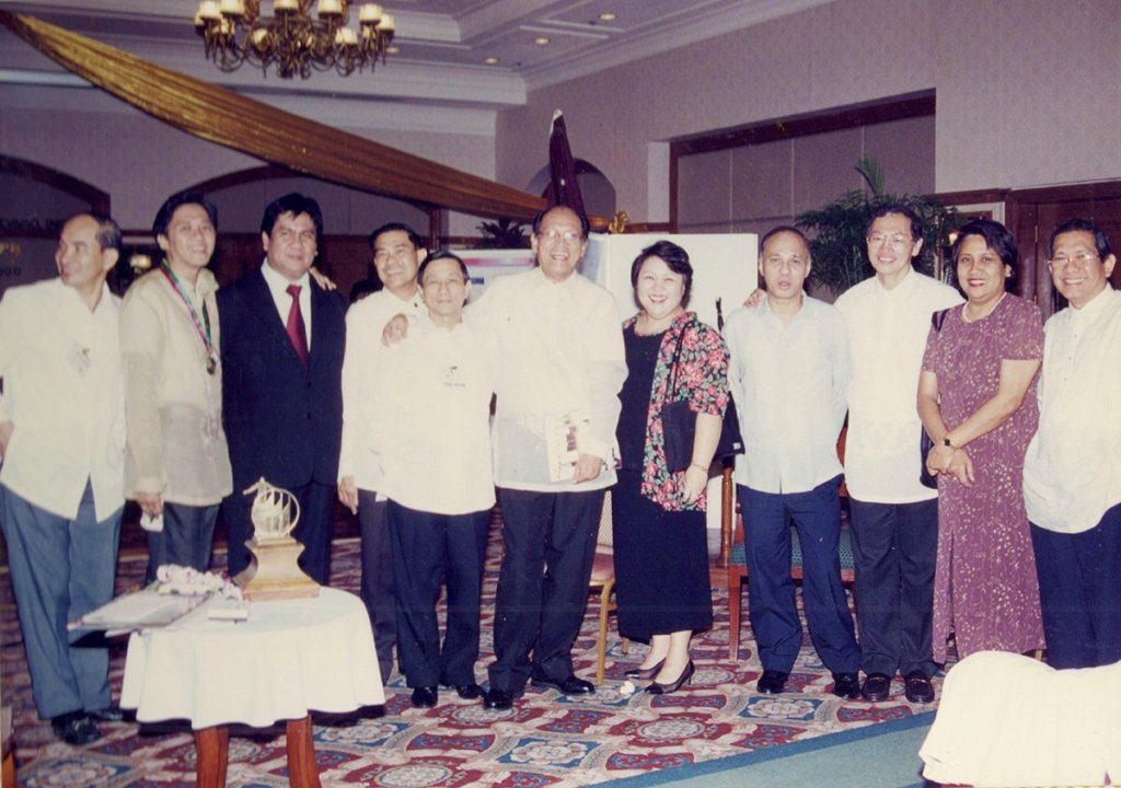 On the 50th Anniversary of UP Alumni Association Davao in December 1999 with President Francisco Nemenzo. (Photo from Rene Estremera, UP Mindanao)