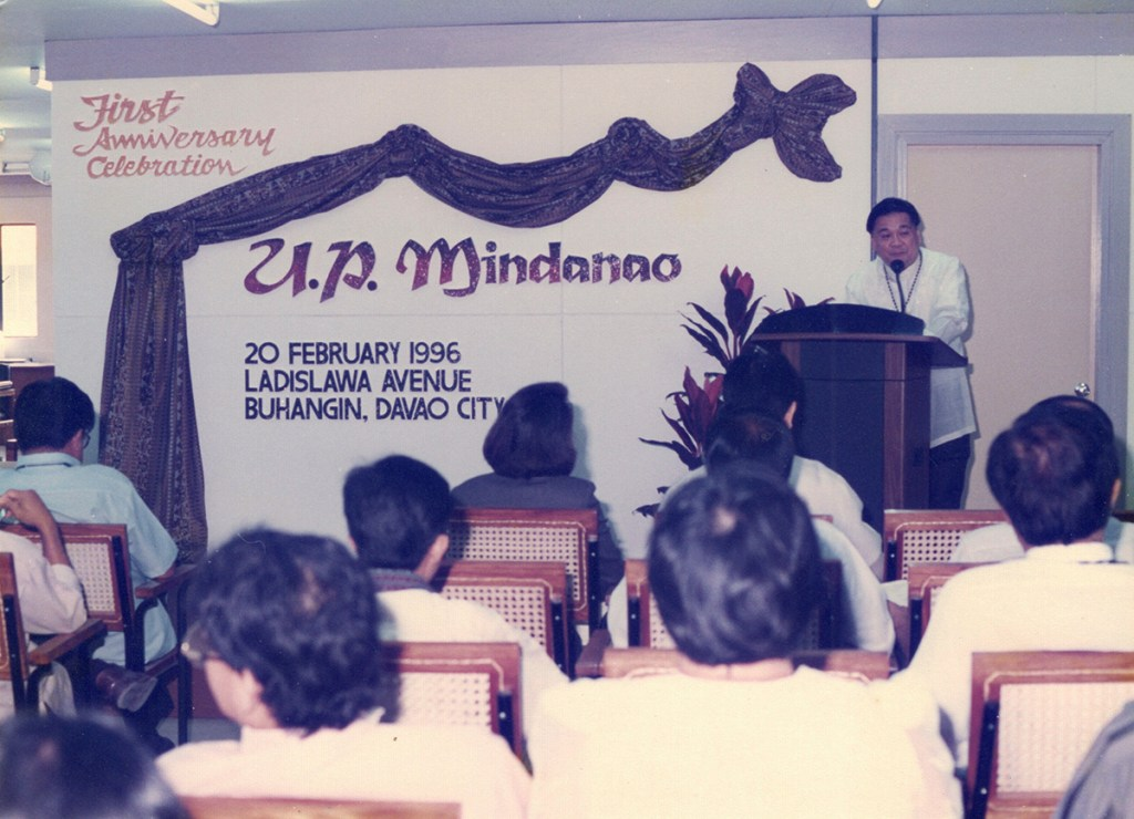 During the first founding anniversary celebration of UP Mindanao. (Photo from Rene Estremera, UP Mindanao)