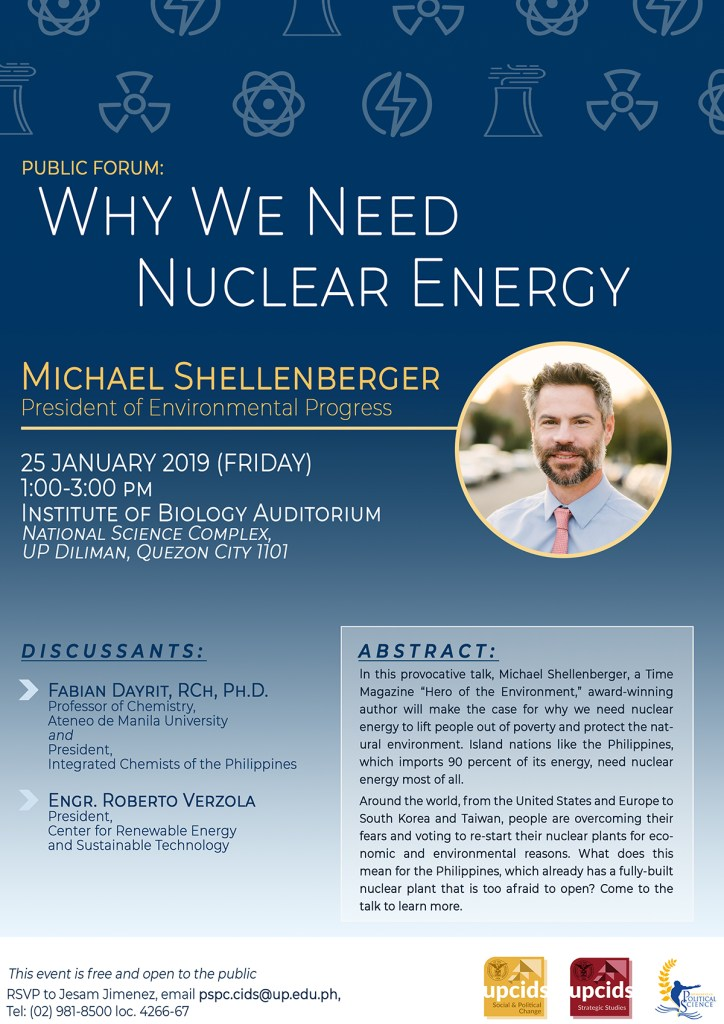 UP CIDS holds public lecture on the need for nuclear energy