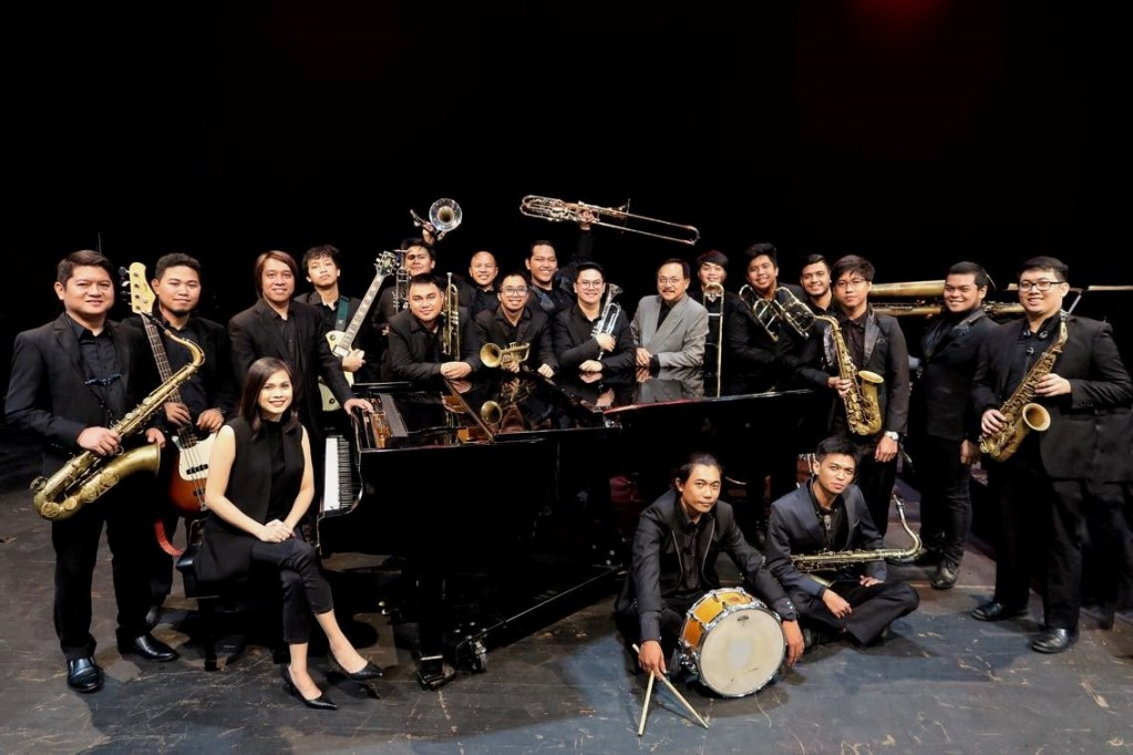 The UP Jazz Ensemble with its bandleader, Prof. Rayben Maigue (in gray jacket). (Photo courtesy of Prof. Rayben Maigue)