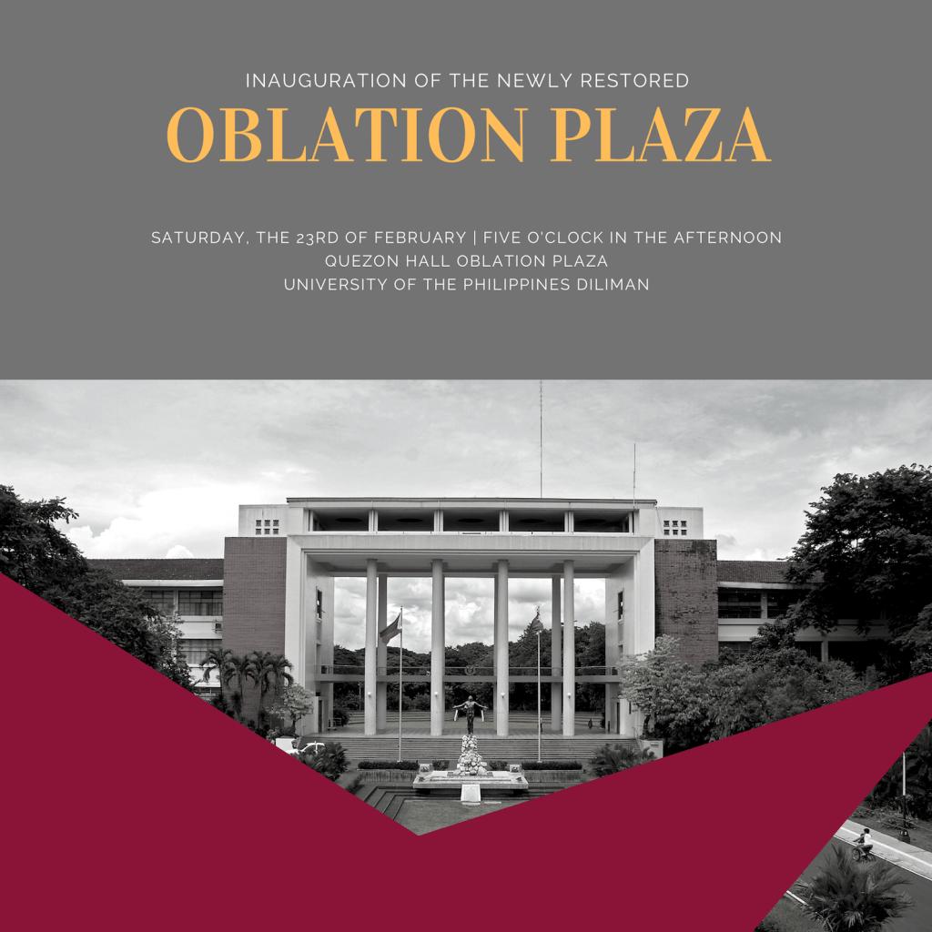 Oblation Plaza Inauguration Feb 23 featured image