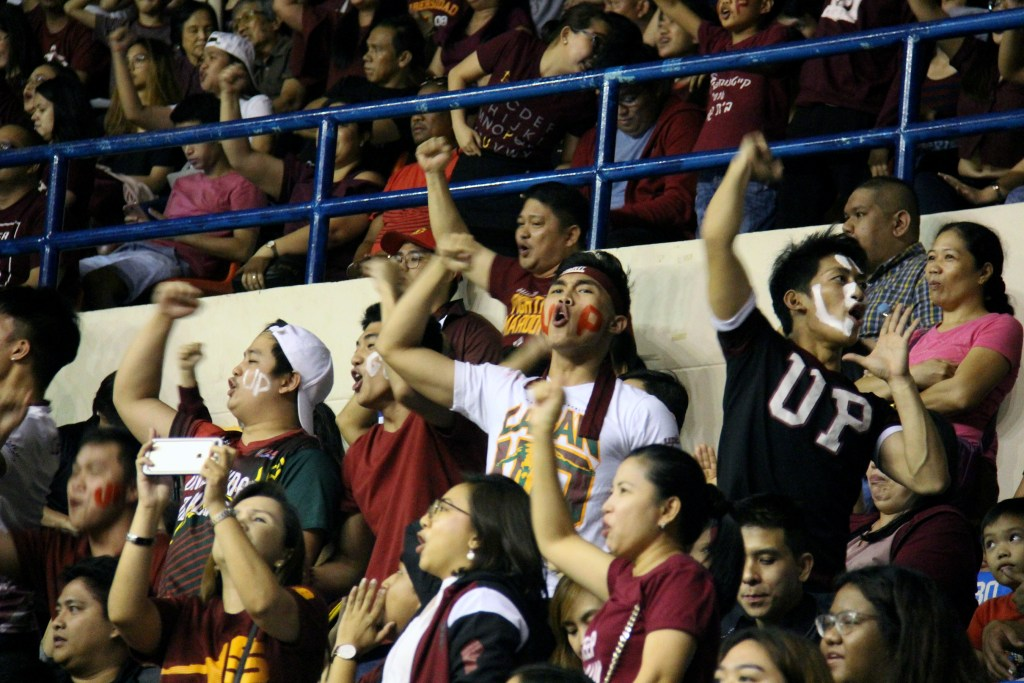 The maroon-wearing crowd is on fire from the get-go. Photo by Jun Madrid, UP MPRO