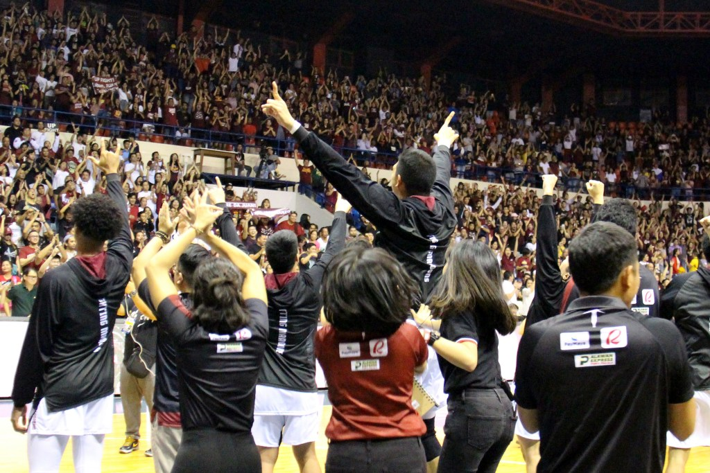 The Maroon crowd bursts into cheers. Photo by Jun Madrid, UP MPRO