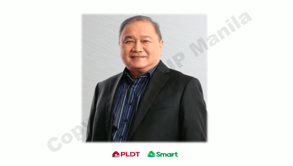 PLDT Chairman and CEO Manuel Pangilinan. Screenshot from the Launch of UP-PGH COVID-19 Bayanihan Operations Center.