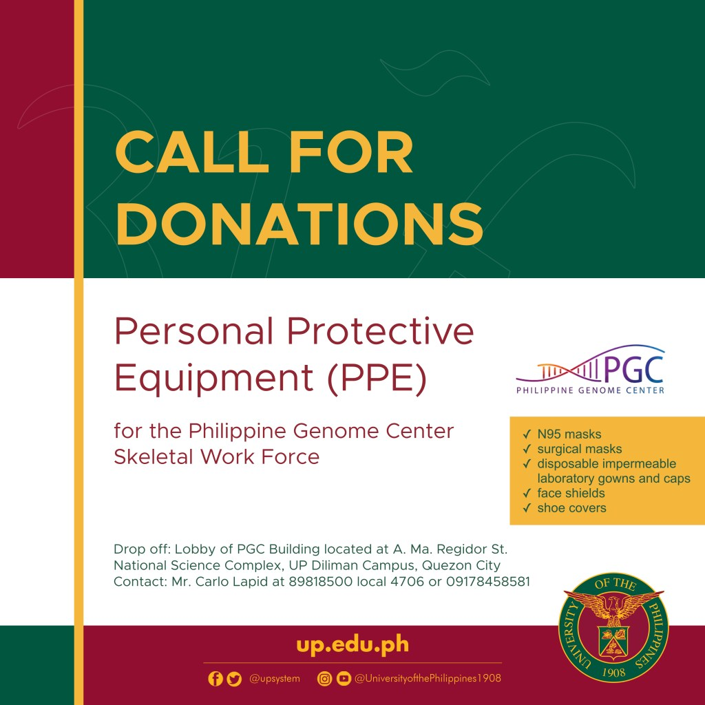 Call for Donations-PPE for PGC