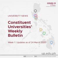 Constituent Universities' Weekly Bulletin (Week 1)