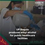 UP Baguio produces ethyl alcohol