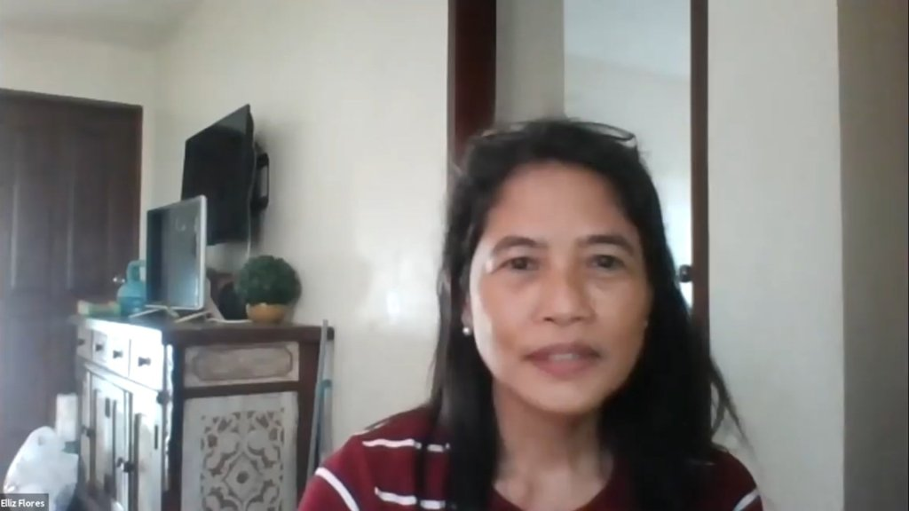 """Dr. Mary Jane Flores (Screenshot taken of her in """"Context, Opportunities, and Challenges for MHPSS in the time of COVID-19"""")"""
