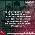"""UPSO, UP musicians come together in """"Alay sa Sambayang Pilipino sa Panahon ng Agam-Agam"""", a musical tribute"""