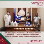 UP Beta Sigma Fraternity - UP Visayas Chapter ramps up COVID-19 response, distributes medical supplies, sends relief in southern Iloilo