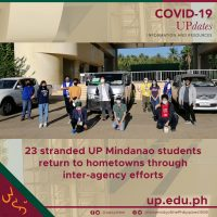 23 stranded UP mindanao students return to hometowns through inter-agency efforts