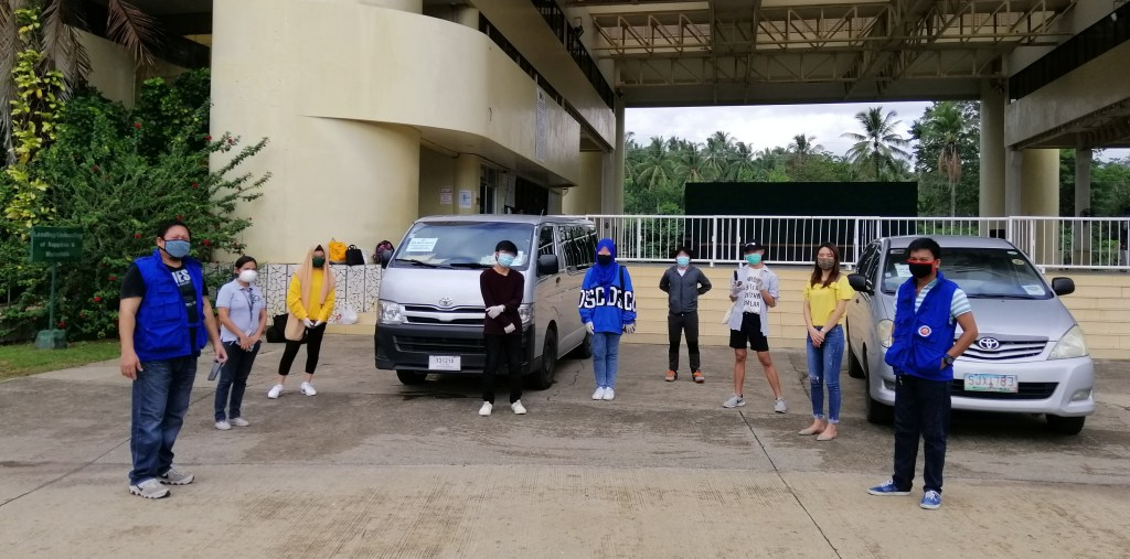 UP Mindanao students departing for Region 10 (Northern Mindanao), assisted by the UP Mindanao Office of Student Affairs, in coordination with the Office of the President‒Presidential Management Staff and the Office of the Special Assistant to the President (Note: Images are intentionally blurred in compliance with the Data Privacy Act.) Photo from the UP Mindanao Office of Student Affairs.