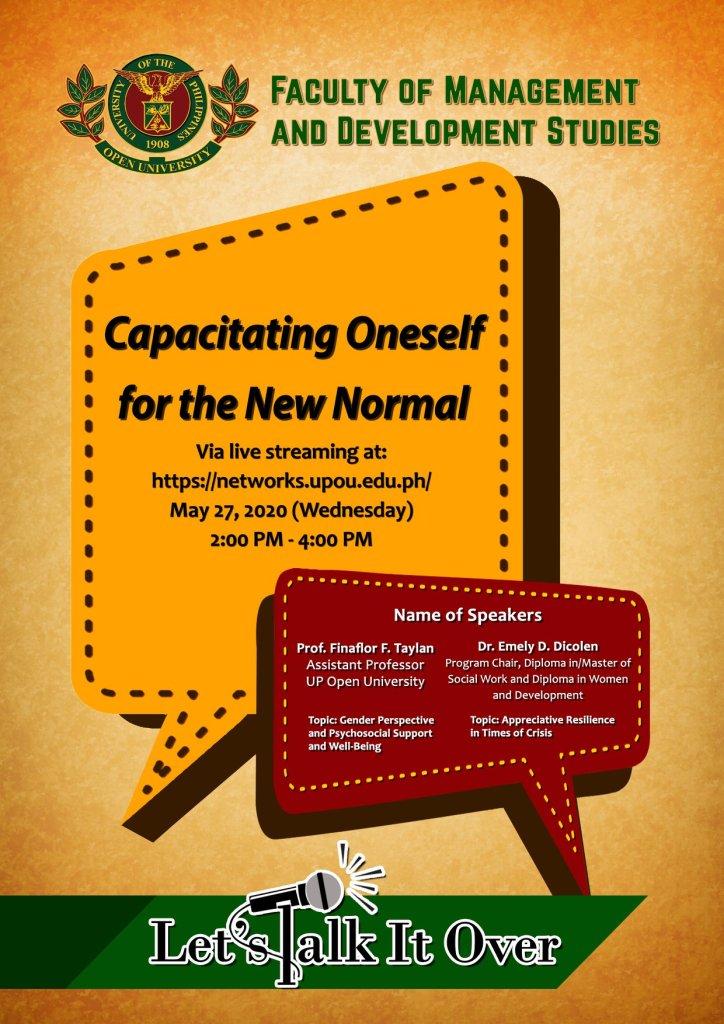 UPOU webinar on preparing for new normal set