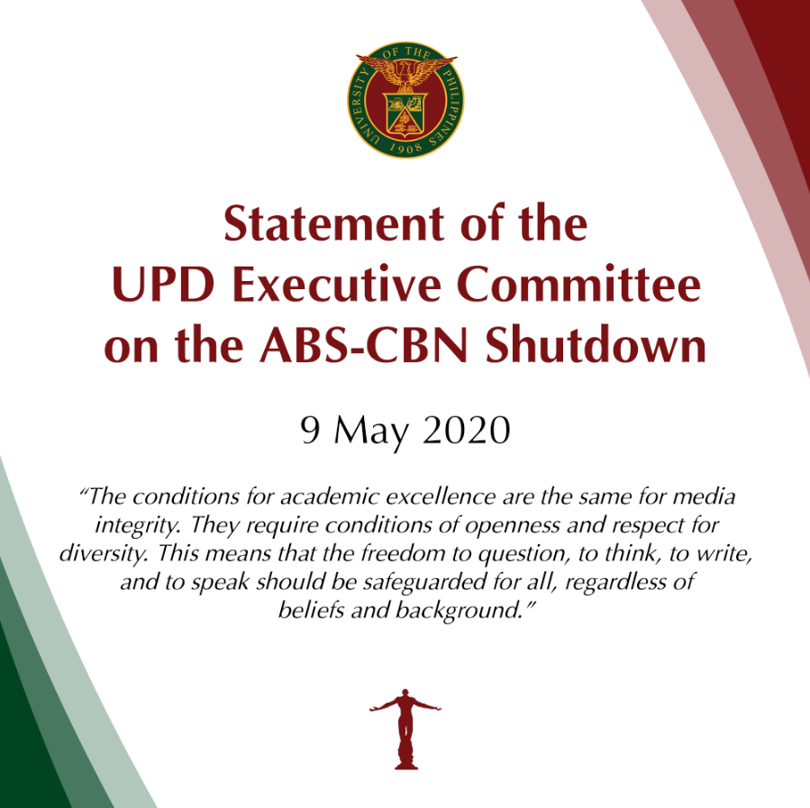 Statement of the UP Diliman Executive Committee on the Shutdown of ABS-CBN