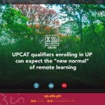 "UPCAT qualifiers enrolling in UP can expect the ""new normal"" of remote learning"