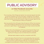 Public advisory on fake Facebook accounts