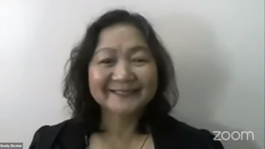 """Screenshot of Dr. Emely Dicolen giving her talk in """"Capacitating Oneself for the New Normal"""". (https://www.youtube.com/watch?v=cn3e5Jpur54&feature=emb_logo)"""