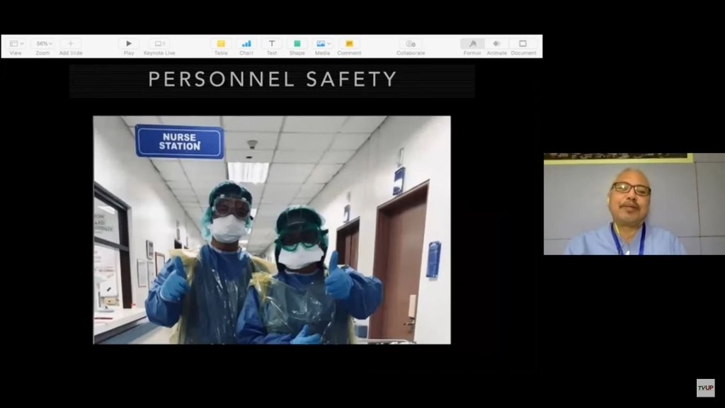 """Screenshot from the livestream of the sixth installment of the UP """"STOP COVID DEATHS: Clinical Management Updates"""" webinar series. (https://www.youtube.com/watch?v=kh9HxKeGnoQ)"""