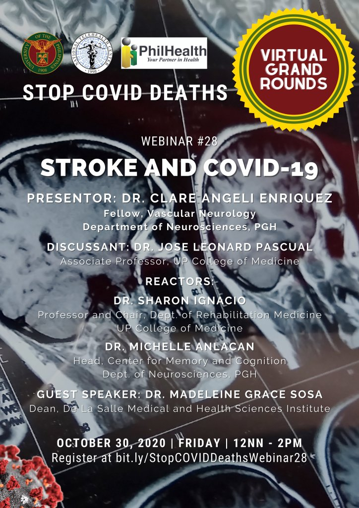 COVID-19 raising the stakes for stroke patients, in upcoming UP Stop COVID Deaths webinar