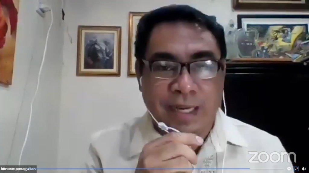 "UPV OAR Director Prof. Benmar B. Panaguiton. Screenshot from the UP Visayas ""Alumni Zoomcoming Day"" held on Aug. 28."
