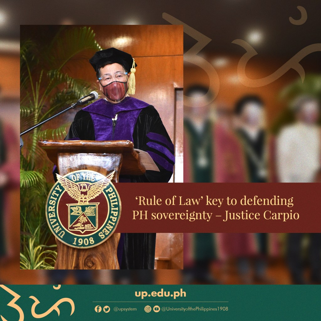 'Rule of Law' key to defending PH sovereignty – Justice Carpio