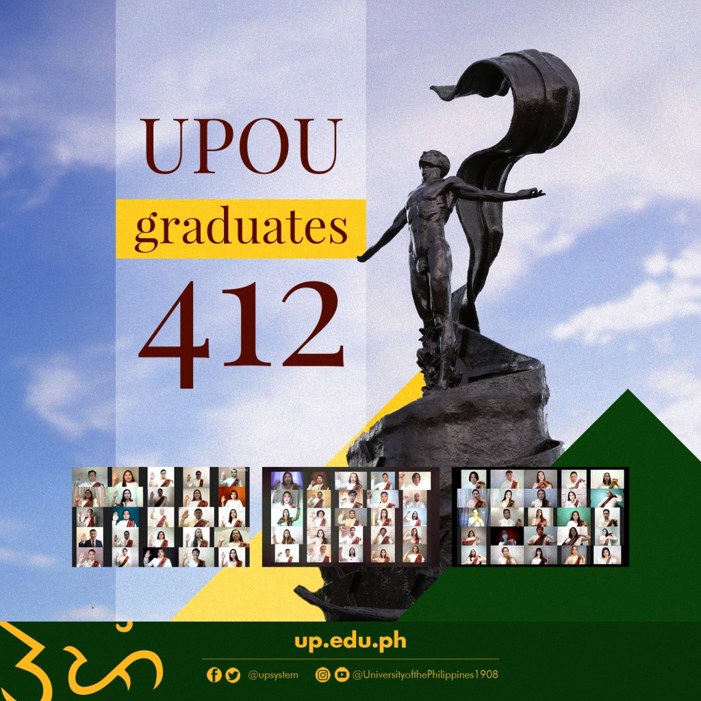 UPOU graduates 412