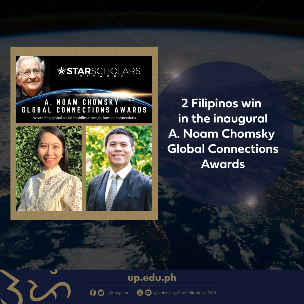 2 Filipinos Win in the Inaugural A. Noam Chomsky Global Connections Awards