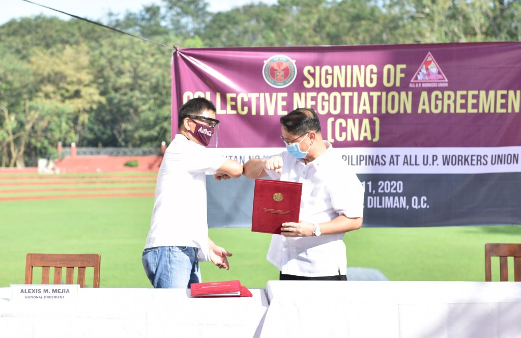 UP, AUPWU officials sign new CNA for 2020-2025