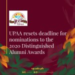 UPAA resets deadline for nominations to the 2020 Distinguished Alumni Awards