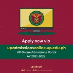 UP launches online portal for first-year applicants for AY 2021-2022