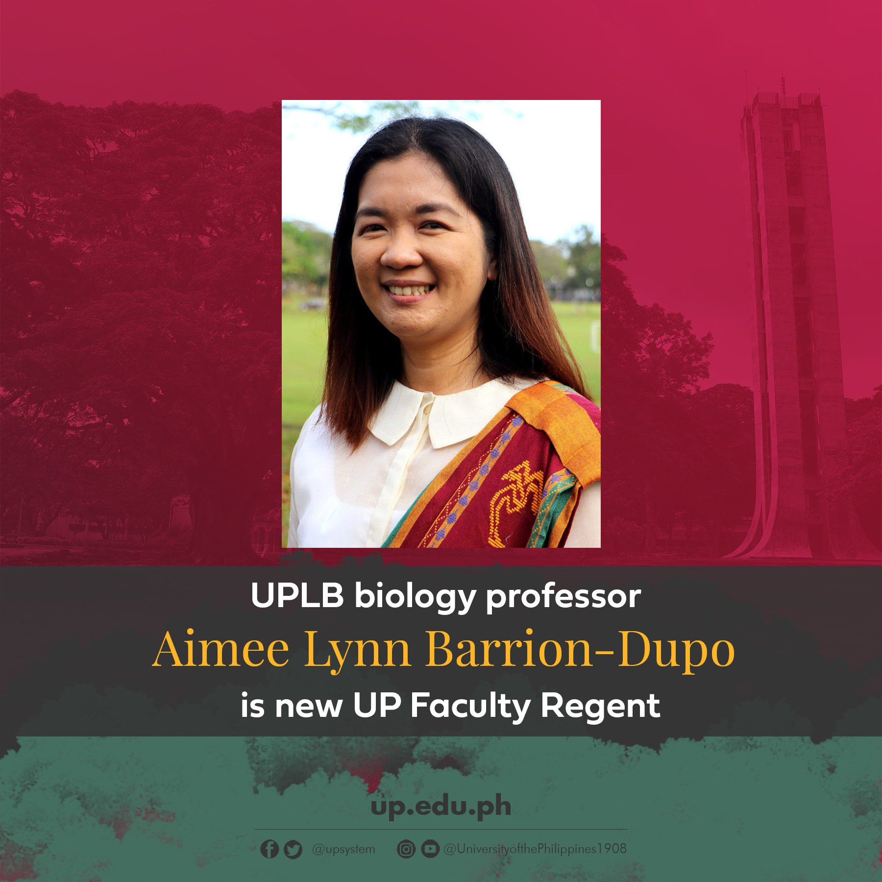 UPLB biology professor Aimee Lynn Barrion-Dupo is new UP Faculty Regen
