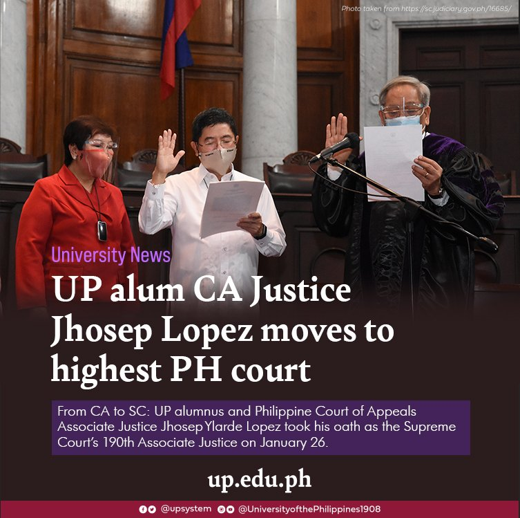 UP alum CA Justice Jhosep Lopez moves to highest PH court