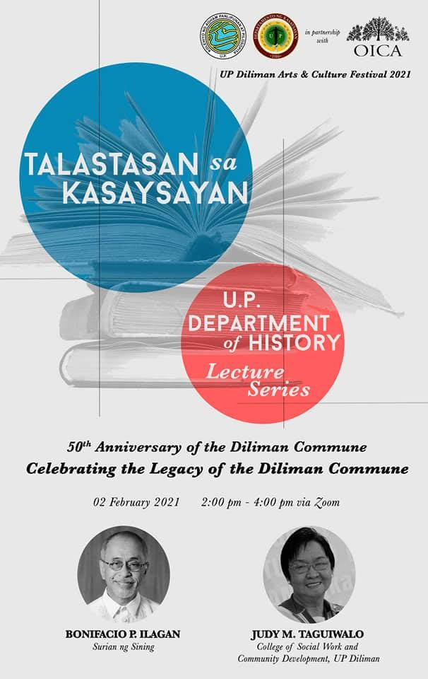 UP webinars discuss Diliman Commune and the Philippine leg of the first circumnavigation of the globe