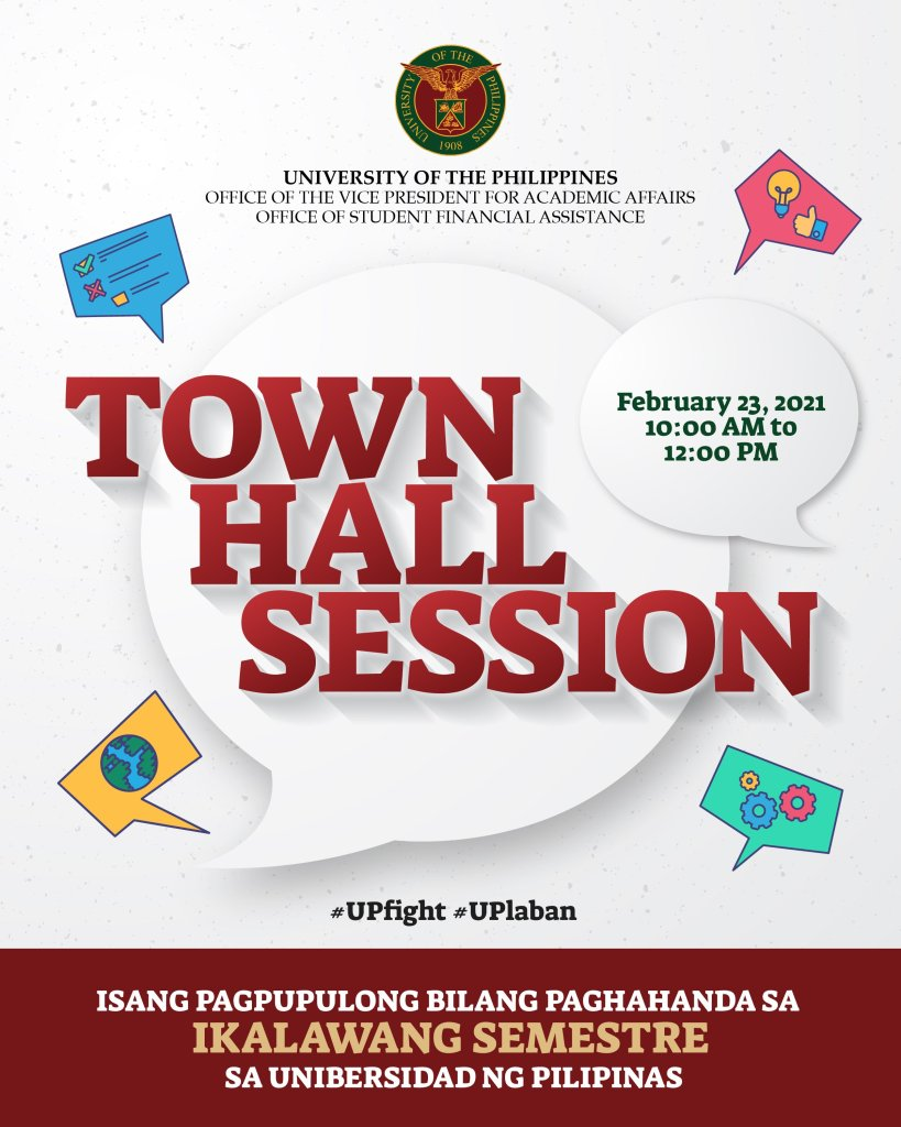 The UP System Town Hall Session for AY 2020-2021